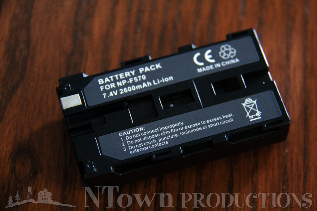 Sony NP-F570 battery with 2600mAh